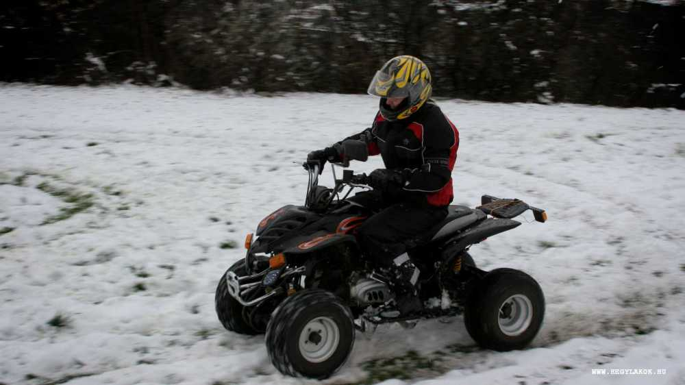 ATV winter snow